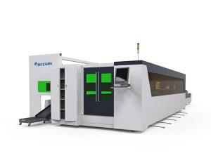 metalezko hodia eta plaka zuntzak abiadura handiko laser ebaketa makina 1500w aparatu birakariarekin