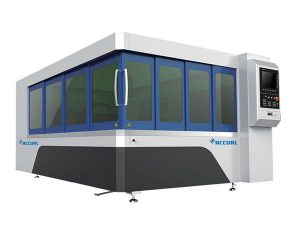 500w metalezko zuntzezko laser ebaketa makina xafla mahai bide sistema batekin