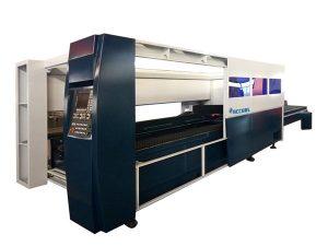 metalezko xafla laser bidezko ebaketa makina industriala 500 w itxitura babesteko sistema