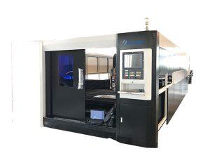 3000w zuntz cnc laser metaliko ebaketa makina gantry gidatzeko egitura bikoitza